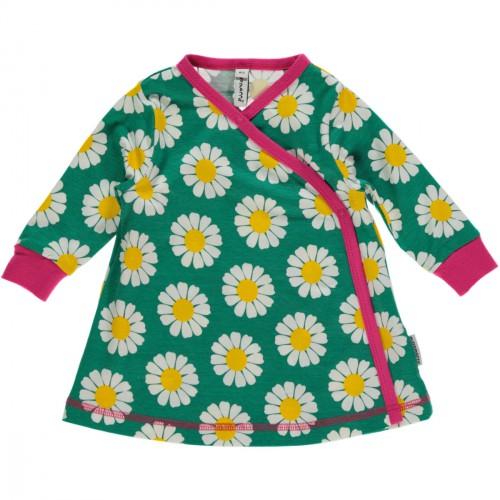 Vestido de algodón orgánico con estampado de margaritas