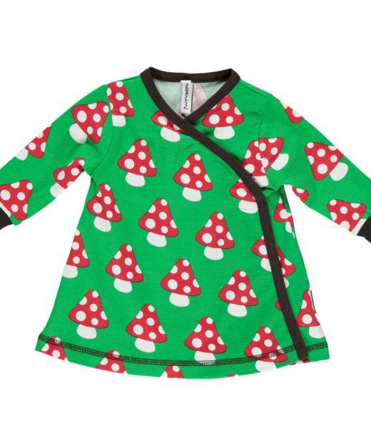 Vestido cruzado de algodón orgánico Setas