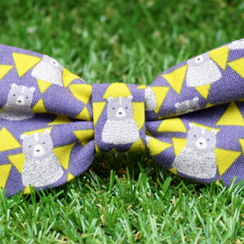 Pajarita estampada Triangle Bear