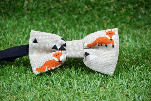 Pajarita estampada Triangle Fox