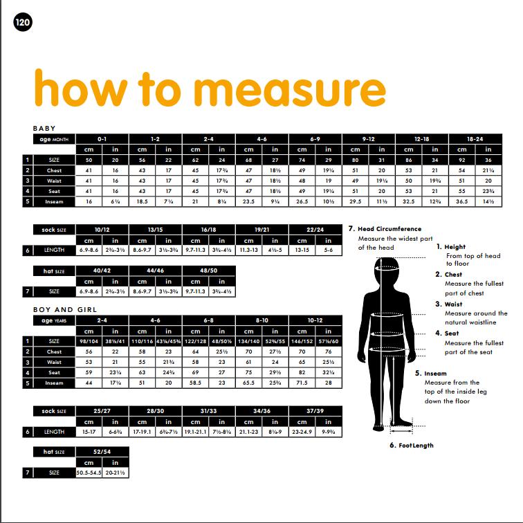 Guía de tallas Maxomorra