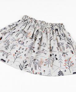 Falda estampada Reno crudo